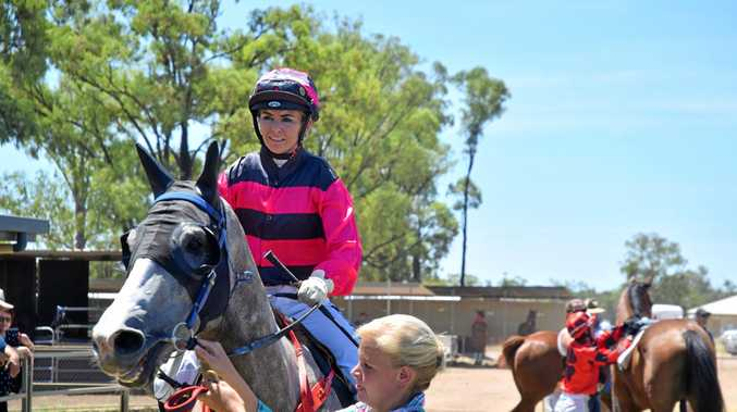 Hannah English returns to the mounting yard aboard Chinchilla owned gelding Psycho Said So.