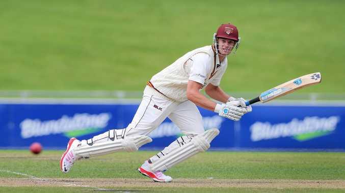 CRICKET: Mark Steketee bats in shield cricket.