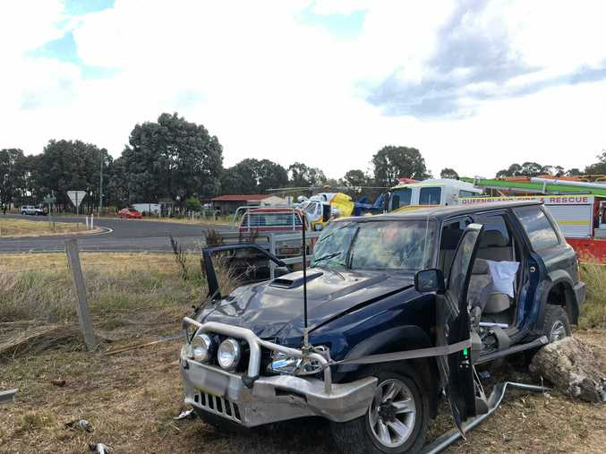 Four people were injured in a two-vehicle collision in the South Burnett on Monday, February 13.