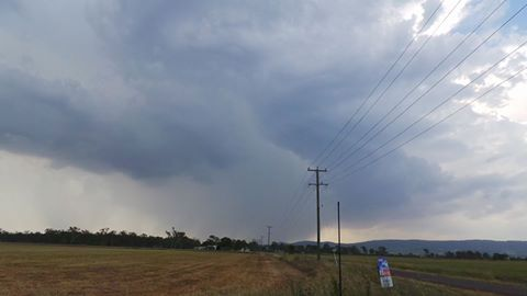 Storm clouds over Rosewood. Photo: ISWTeam Storm Chasers Facebook
