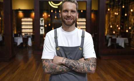 Noosa chef Braden White pictured on the set of MasterChef Australia. Supplied by Channel 10.