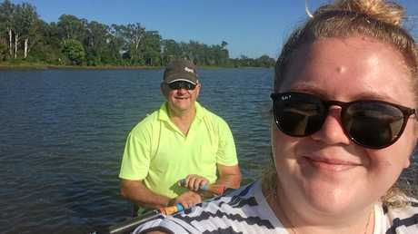 DEX reporter Caitlan Charles out on the Clarence River with Ron Chaffey at the Grafton Rowing Club come and try day on Saturday, February 11 2017
