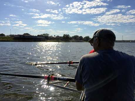 DEX reporter Caitlan Charles out on the Clarence River with the Grafton Rowing Club on their come and try day on Saturday, February 11 2017