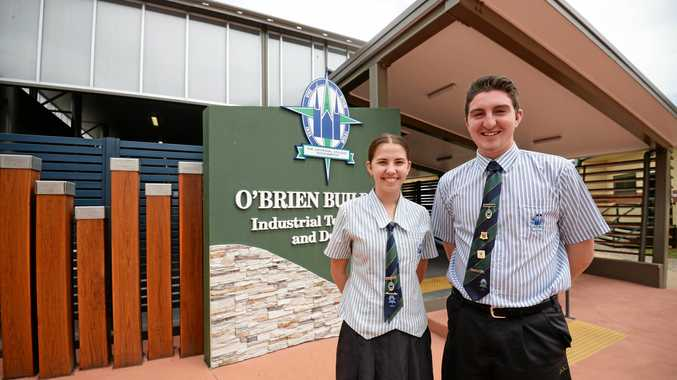 PROUD AS PUNCH: Two of the four TCC school captains Anna Crow and Nicholas Lloyd talked to the Morning Bulletin about their vision for the high school this year and why they took on their captaincies.