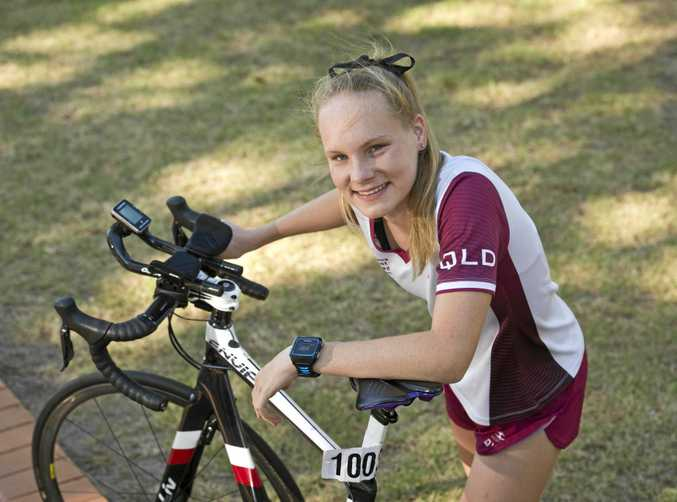 BLOWING THE FIELD AWAY: Emma Dann is having a lot of success in the Queensland Triathlon Series this year.