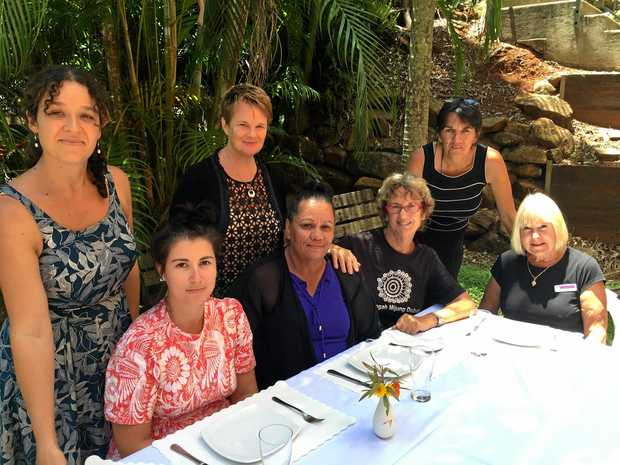 Organisers of the Lismore Women's Festival Luncheon Back - left to right: Zoe Dodd, Louise Collins, Sandra Handley Front - left to right: Emily Fajerman, Amelia Bolt, Lois Kelly, Zell Bennett