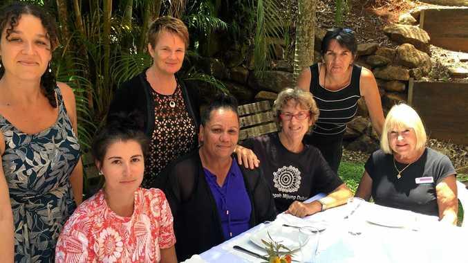 Organisers of the Lismore Women's Festival Luncheon Back - left to right: Zoe Dodd, Louise Collins, Sandra Handley Front - left to right: Emily Fajerman, Amelia Bolt, Lois Kelly, Zell Bennett