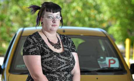 Katrina McMillan was confronted in a car park for parking illegally despite having a disabled sticker.
