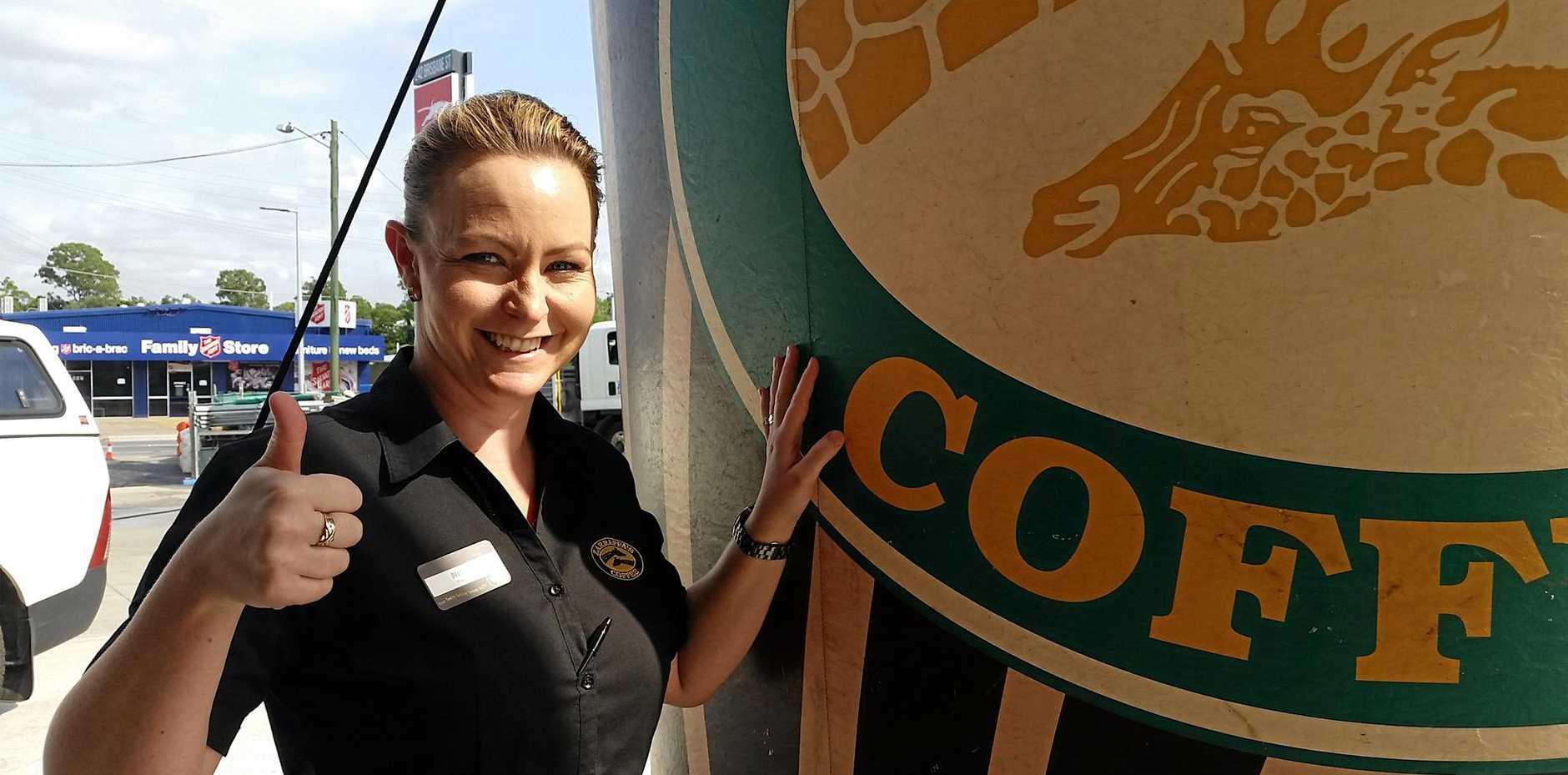 Zarraffa's Coffee West Ipswich franchisee Nicole Penrose.