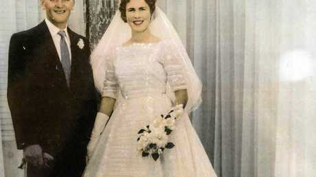 Laurie and Elaine Stephenson on their wedding day in 1959.