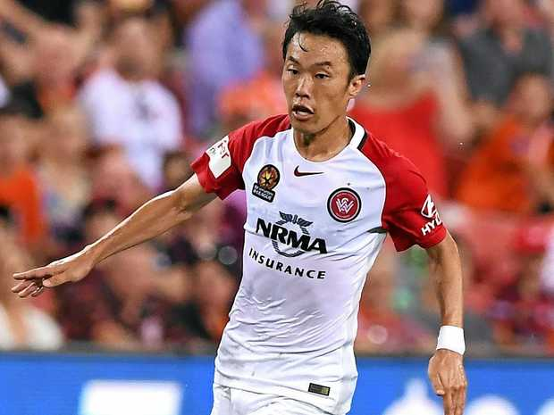 Wanderers player Jumpei Kusukami.