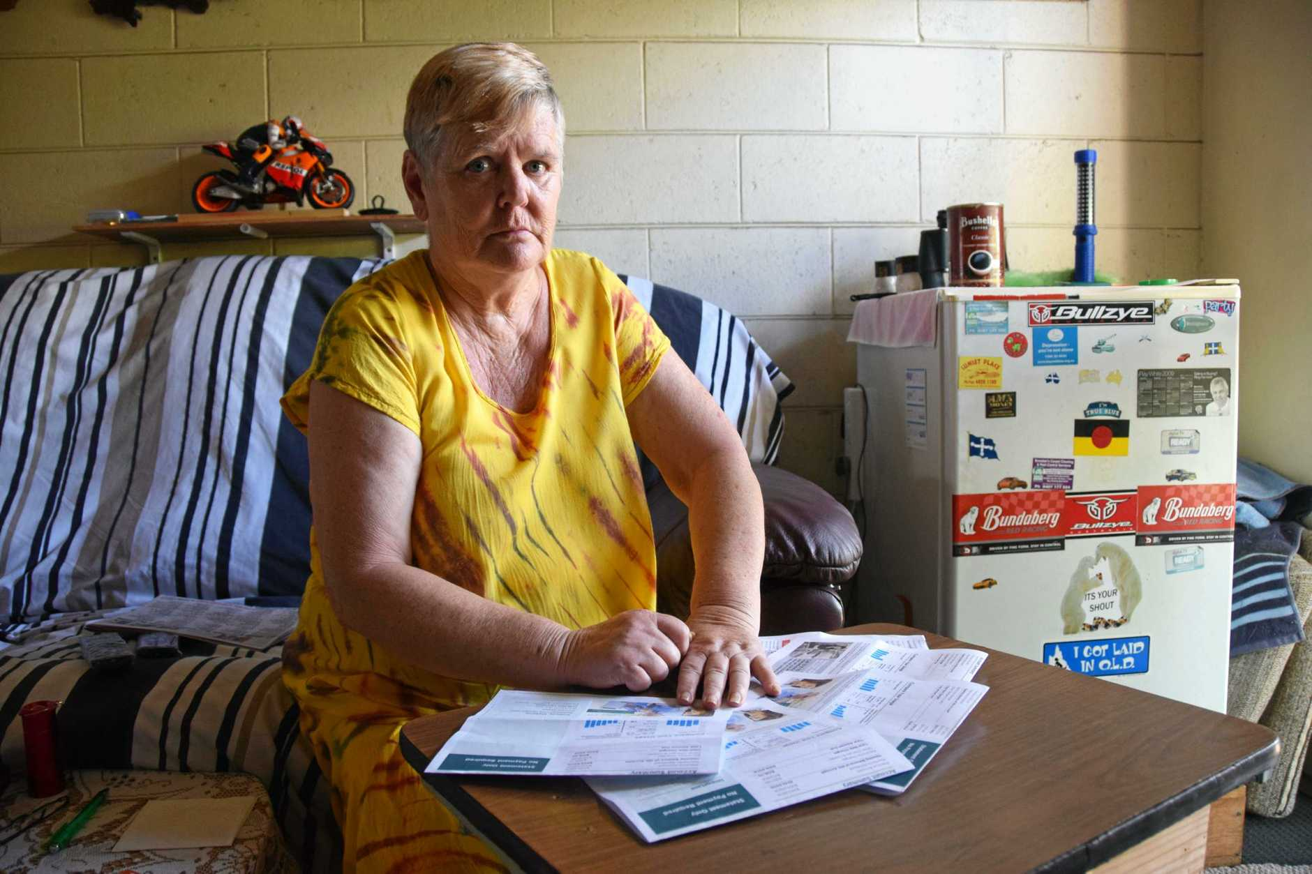 POWER STRUGGLE: Rockhampton pensioner Val Cottier says the rising cost of electricity is pushing her and partner Colin closer to poverty.