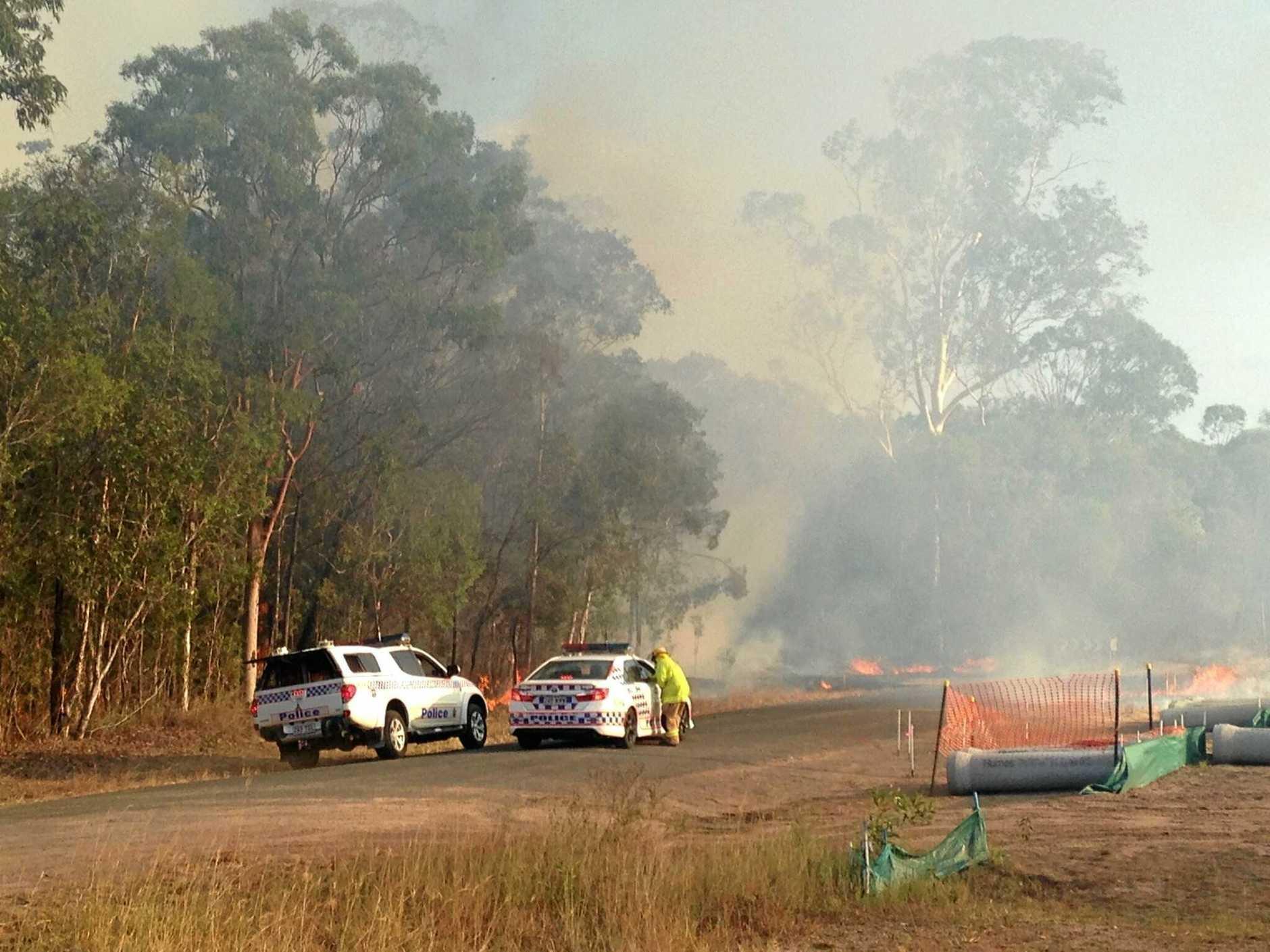 BREAKING: Crews battle fire in Urangan.