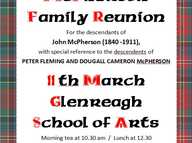 For the descendants of John McPherson (1840 -1911),  with special reference to the descendents of  PETER FLEMING AND DOUGALL CAMERON McPHERSON