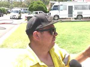 Fearless tradie storms home engulfed in flames