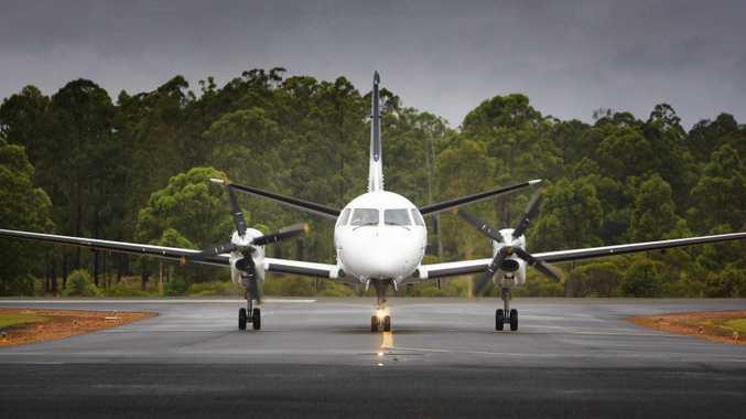 A REX flight arrives at Grafton airport Photo: Adam Hourigan/The Daily Examiner