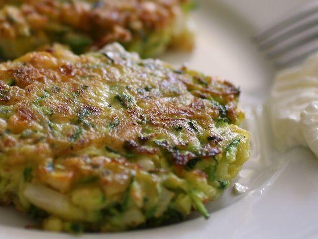 Delicious halloumi and zucchini fritters