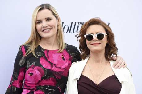 "Actors Geena Davis, left, and Susan Sarandon, co-stars of the 1991 film ""Thelma & Louise,\"" pose at The Hollywood Reporter's 25th Annual Women in Entertainment Breakfast at MILK Studios on Wednesday, Dec. 7, 2016, in Los Angeles. (Photo by Chris Pizzello/Invision/AP)"