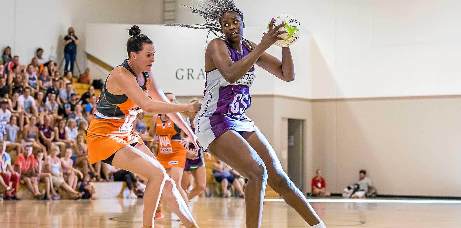 Romelda Aiken in control during a recent practice match.