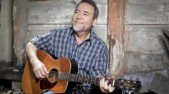 HEY TRUE BLUE: Country music icon John Williamson performs at Grafton's Saraton Theatre on Saturday night.