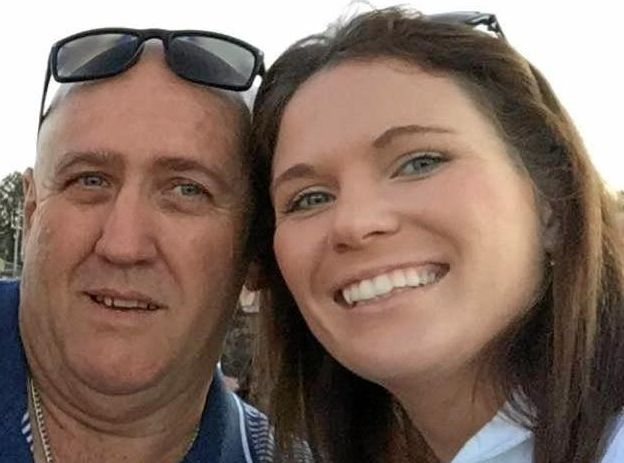 HAPPIER TIMES: Ron Hobbs has only weeks to live after being diagnosed with stomach cancer. His family, including daughter Tamara Ward, is trying to make his wish of meeting the Broncos come true.