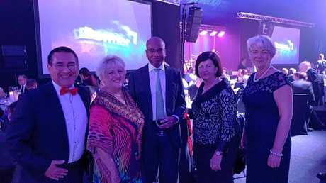 IN TALKS: From left: Councillor Drew Wickerson, Capricornia MP Michelle Landry, Adani Australia CEO Jeyakumar Janakaraj, Isaac Region Mayor Anne Baker and Rockhampton Region Mayor Margaret Strelow at a conference in Mackay this week where Adani bosses were in talks with council.