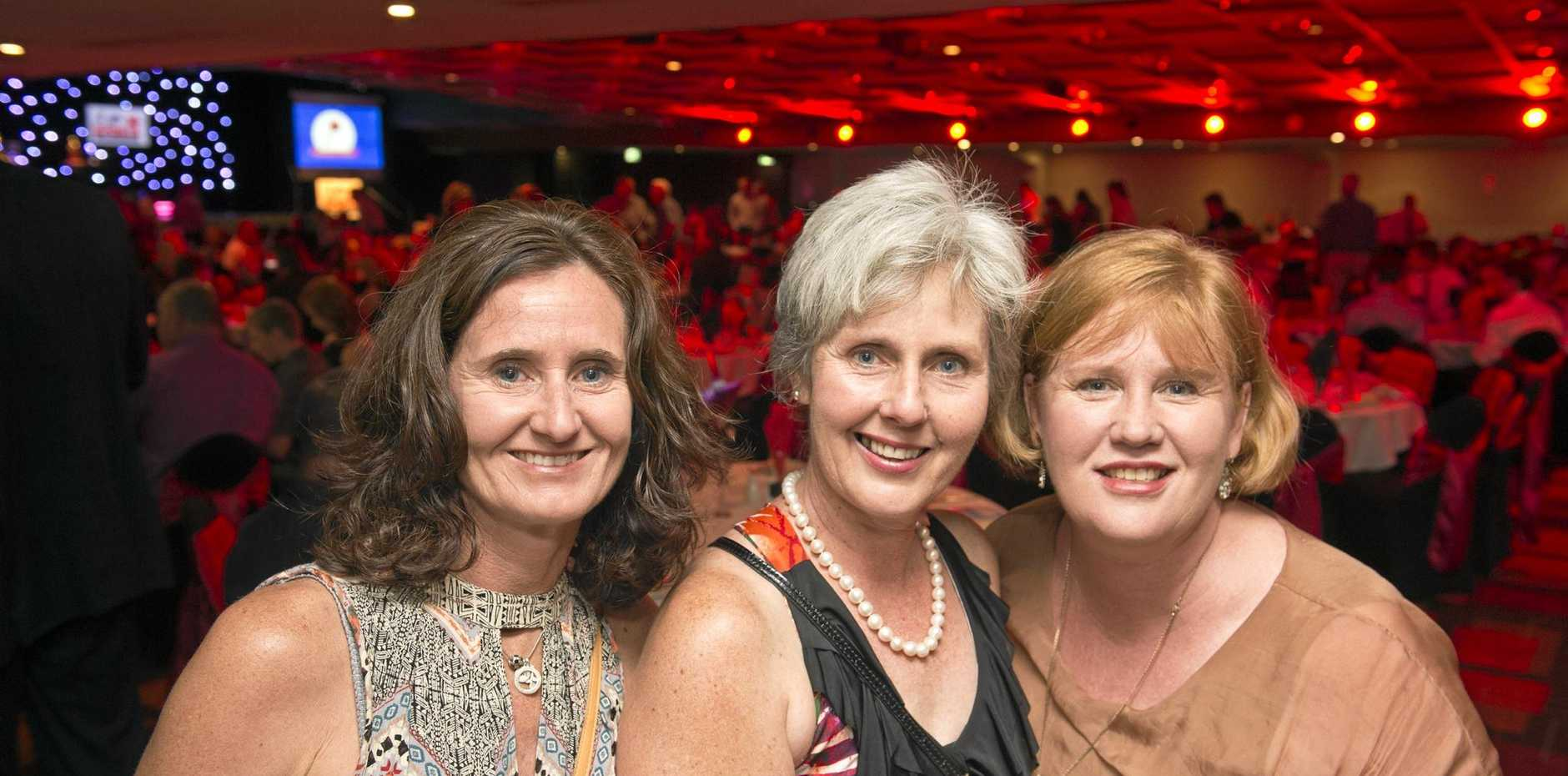 Enjoying a night of celebrations are (from left) Sue Watts, Judy Humphries and Caroline McLean.