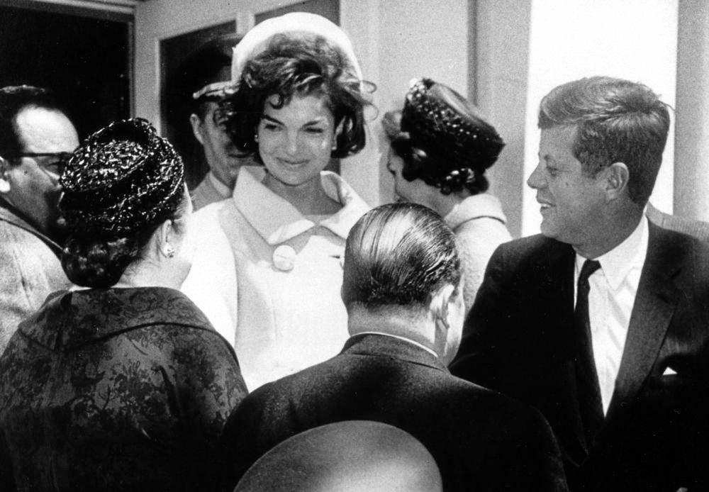Jackie Kennedy (Onassis) with her first husband, US President John Fitzgerald Kennedy.