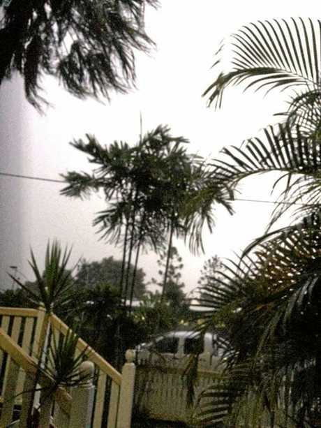 It looked like daylight in North Mackay as a lightning strike hit, shows Jackie Smit's photo.