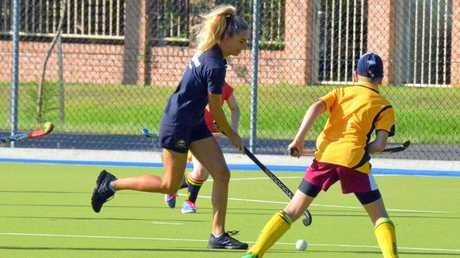 Hockeyroo representative Gabi Nance was in Grafton over the weekend to run a special junior hockey skills clinic.
