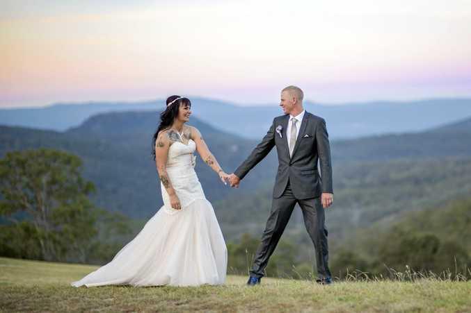Peter Wormington and Carla Greenfield were married at Preston Peak last week.