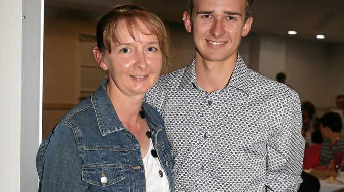 Angie and Matt Campbell at a sports award night in Warwick.