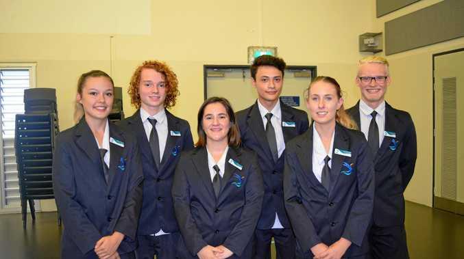 SCHOOL LEADERS: Latesha Morante, Noah Robinson, Molly Gibbins, Josiah Benedito-Toatafa, Aleesha Spyve and Cameron Short.