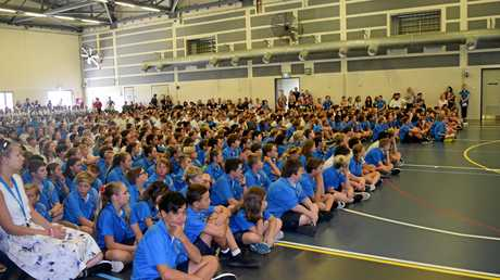 MAKING HISTORY: The first Mackay Northern Beaches State High School leadership ceremony.