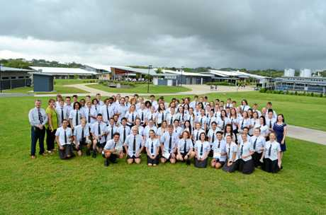 SCHOOL LEADERS: Northern Beaches State High School Year 12's at their leadership ceremony on Wednesday.