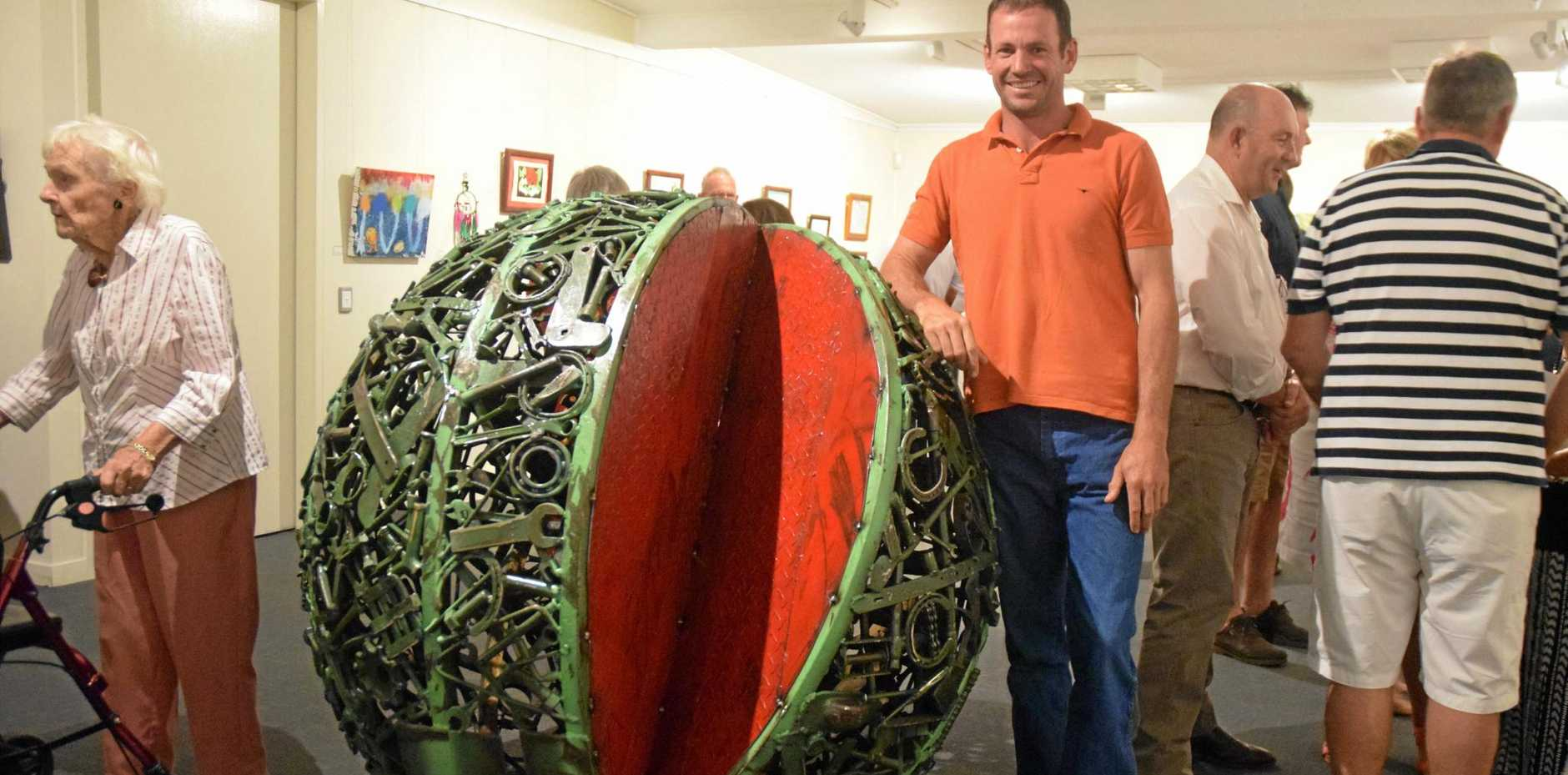 Chinchilla artist Dion Cross won the spatial construction category and the judge's praise at the Melon Festival Art Competition for