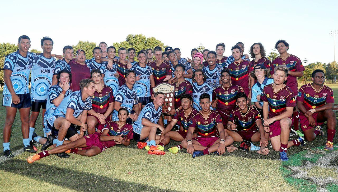 ALMOST: Tyreece Gyemore's Queensland Murri under-16s lost narrowly to the NSW Koori under-16s.
