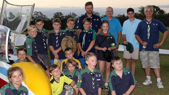 Grafton Scouts visit the Grafton Gliding Club.