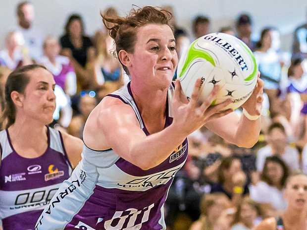 Kate Shimmin in action for the Firebirds in a pre-season game.