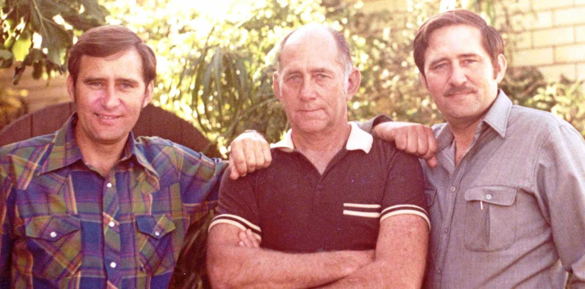 TWIN BROTHERS: Barry (left) and George (right) Hatchman with their dad Jack. Barry and George will undergo heart surgery within months of each other.