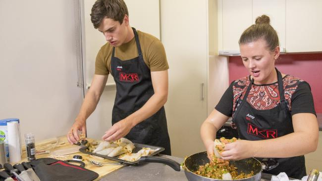 Josh and Amy took hours to prepare their entree.