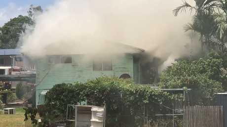 Black smoke engulfs West Gladstone house