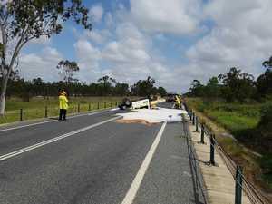 Havoc as fuel spills near explosive factory in highway crash