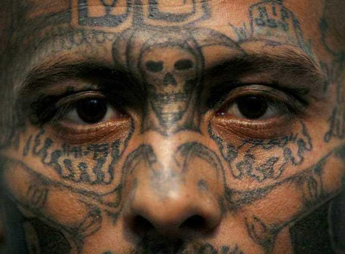 Wilmer Matamoros, 23, an active Mara Salvatrucha gang leader photographed in Honduras