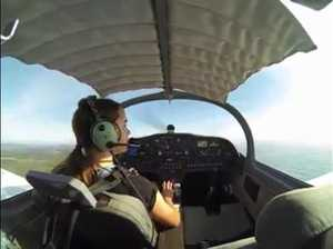 Sophie Jennings' first solo flight
