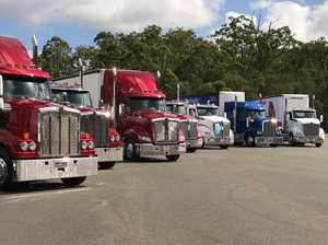 Kenworth's T610 variants lined up at Mt Cotton. Will the new models eat share from other Kenworth product.