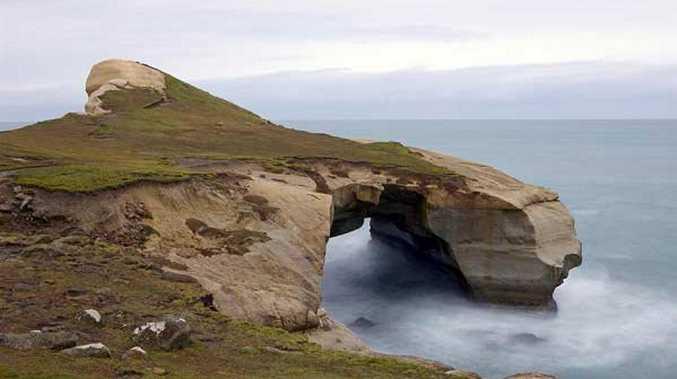 Tunnel Beach is often called the most romantic spot in Dunedin.