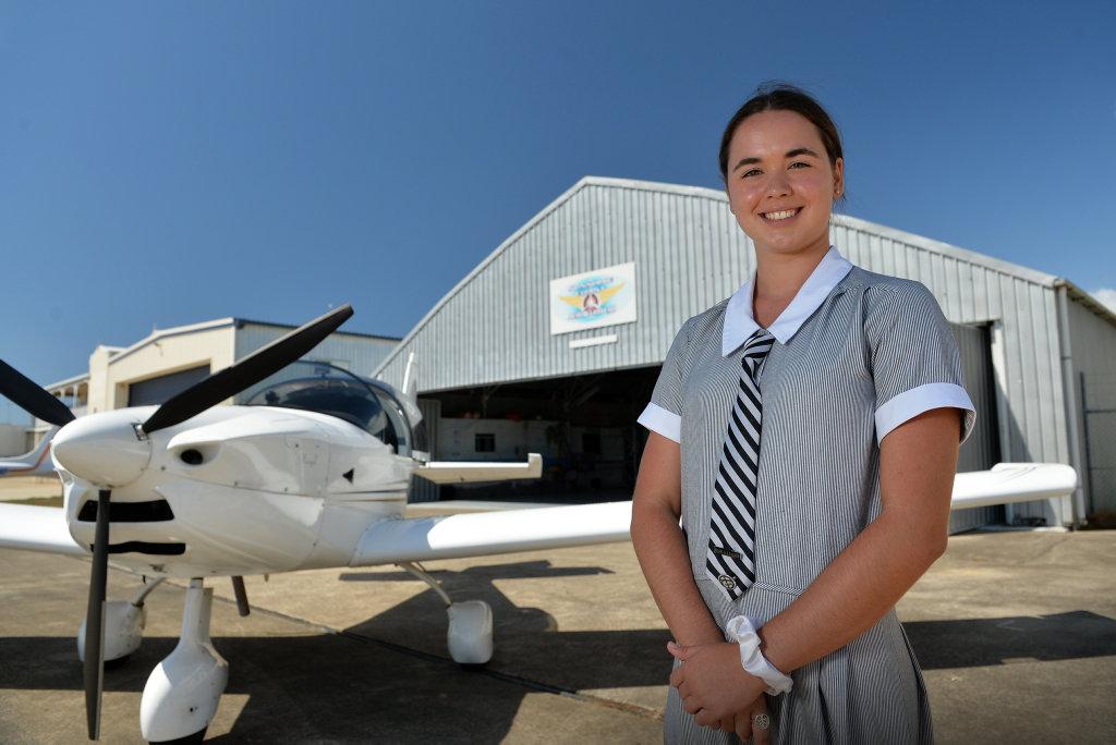Sixteen year old Sophie Jennings has taken her first solo flight.