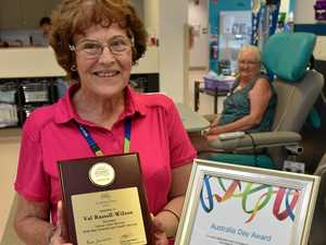 Val surprised at award for doing what she loves