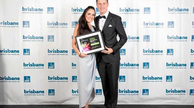 BUSINESS OWNER: Former Moranbah resident and entrepreneur Tamara Loehr with Brisbane Lord Mayor Graham Quirk.